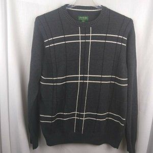 David Taylor Collection Mens Sweater Medium Gray